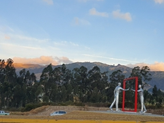Sculpture near the Quito airport