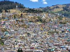 Houses of Quito as seen from the Virgin of El Panecillo