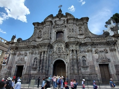 The Jesuit church of Compañía de Jesús, Quito