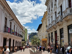 Colonial street of old Quito