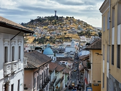 A view of Quito as we stop for a break on our walking tour