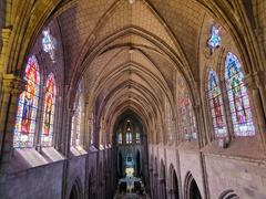 Interior stained glass windows of Basílica del Voto Nacional