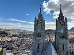 Climb the tower of Basílica del Voto Nacional for an amazing bird's eye view of Quito