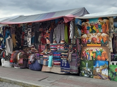 Souvenirs for sale; Otavalo