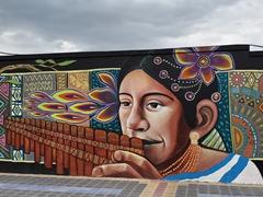 We loved the street art of Otavalo