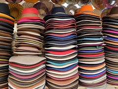 Hats for sale; Otavalo Market