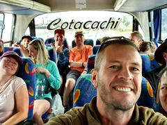 Riding the public bus to Cuicocha