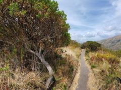 Hiking trail around the volcanic rim of Lake Cuicocha