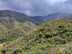 Stunning scenery on our hike around Lake Cuicocha