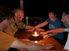 Drinking games; Arajuno Jungle Lodge
