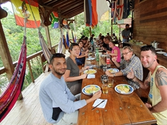 A tasty lunch at Arajuno Jungle Lodge