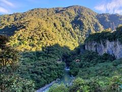 View as we hike towards Pailon Del diablo (Devil's Cauldron)