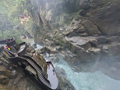 Drenched in a matter of seconds at Pailon Del diablo