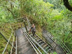 Staircase down to Machay waterfall
