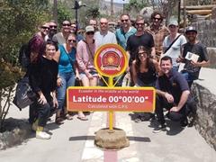 Our Oasis group at Ciudad Mitad del Mundo