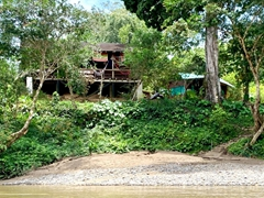First glimpse of our home for 3 nights; Arajuno Jungle Lodge