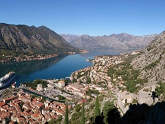 Breathtaking views on the hike up to Kotor's fortifications