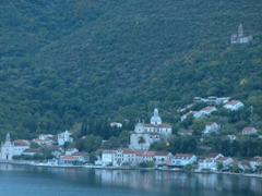 Early morning view during our cruise to the Bay of Kotor