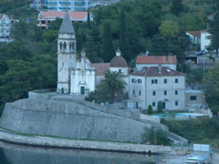 Waterfront church on the outskirts of Kotor
