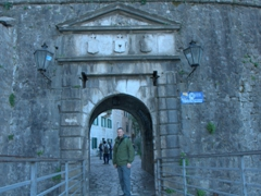 Robby standing in one of the gates leading to the Old City of Kotor