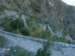 The wide mule path we climbed up to reach St John's Fortress