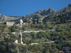 Built on the hillside overlooking Kotor in 1518, the Church of Our Lady of Health can only be reached by a short hike
