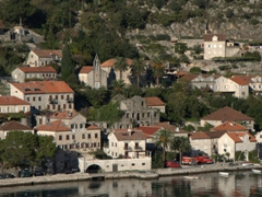 View of UNESCO World Heritage site Perast, a sleepy town with 16 Baroque Palaces and 17 Catholic Churches