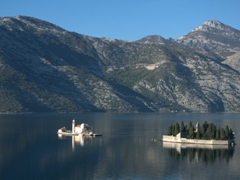 Our Lady of the Rocks (a manmade islet) and Sveti Dorde Island; off the coast of Perast