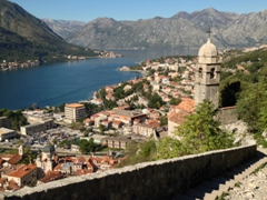 Church of Our Lady of Health overlooking the Bay of Kotor