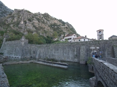 The northern city walls of Kotor