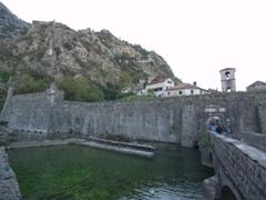 The northern city walls of Kotor