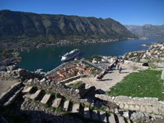 Phenomenal views over the Bay of Kotor from the top of St John's Castle