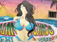 Street mural in surf friendly Huanchaco