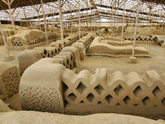 Chan Chan - the abandoned capital of the Chimú empire. It is considered the largest adobe city in the world