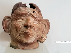 Wrinkled face; Chan Chan museum