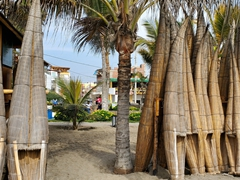 We thought these reed boats were for display but were shocked to see that locals still use them today; Huanchaco