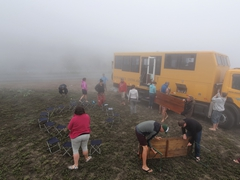 Foggy truck lunch