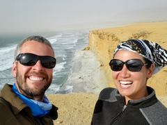 Enjoying the view at Paracas National Reserve