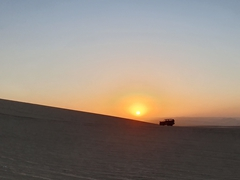 Sunset over Huacachina