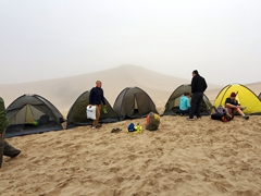 The morning after our desert camp; Huacachina
