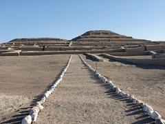 View of the Cahuachi Pyramids