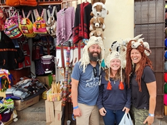 Modeling animal hats; Cusco