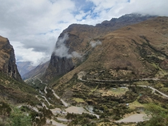 Day 1 of our Inca Jungle Trek - the winding road leading up to Abra Malaga