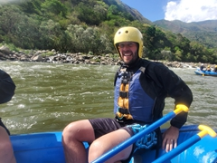 White water rafting the Urubamba River