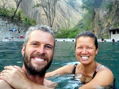 After 23 km of trekking, we got to soak our weary bones at Cocalmayo hot springs; Santa Teresa