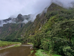 The view as we hike from the  hyrdroelectric power plant towards Machu Picchu