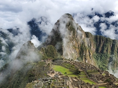 A few minutes later, the clouds moved in and gave us this glorious view; Machu Picchu