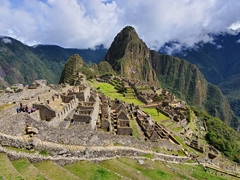 After hiking to the Sun Gate, we finally entered the main temple complex of Machu Picchu to find loads of crowds