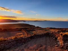 Gorgeous sunset over Amantani Island