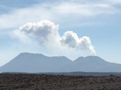 Sabacaya volcano, one of 16 active volcanoes in Peru